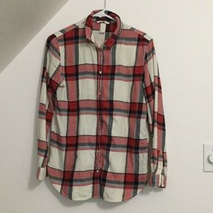 H and M cute flannel shirt